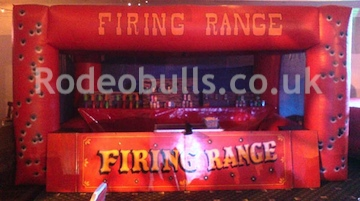 Cork Gun Shooting Range for hire from rodeobulls.co.uk.